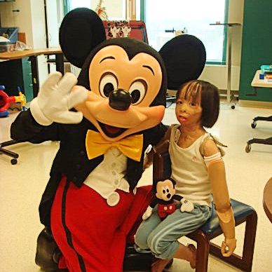 Boun Lod and Mickey Mouse.